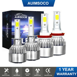 FOR 2015 2018 FORD FOCUS LED HEADLIGHT COMBO H1HIGH H11 LOW WHITE DRL BULBS 4X $26.69