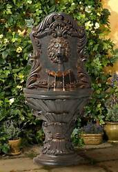 Outdoor Wall Water Fountain with LED Light 50quot; Imperial Lion Lamps Plus $259.95