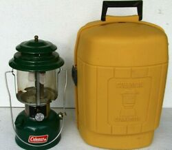 COLEMAN 220J GAS LANTERN Yellow Clamshell case. Dated 8 79 $91.00
