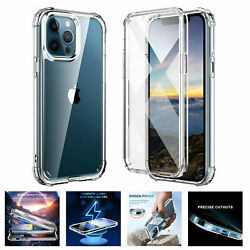 For iPhone 13 Pro Max 12Mini 11 Pro 360 Full Case Shockproof Clear Crystal Cover $9.89