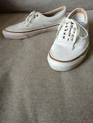 VANS Off the Wall White Suede Lace Ups Men#x27;s Sz 10.5 Gently Used $35.00