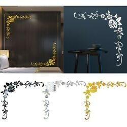 3D Mirror Flower Removable Wall Sticker Art Acrylic Mural Decal Wall Decorations $14.24