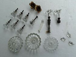 Vtg Crystal Glass Chandelier Prisms Knobs Mixed Lot 18 Total Pieces $19.99
