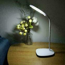 USB Rechargeable Dimmable LED Desk Light Touch Sensor Table Bedside Reading Lamp $11.99