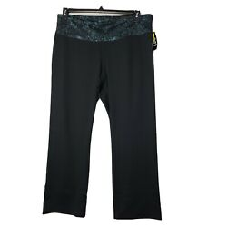 Champion C9 Women's Black Curvy Straight Pant Size 3X High Rise Freedom Fit $12.96