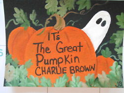 Original Acrylic ACEO Painting It#x27;s The Great Pumpkin Charlie Brown $5.95