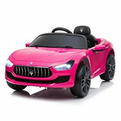 12V Kids Ride On Car Licensed Maserati Electric Vehicle Toy Remote Control Pink $199.99