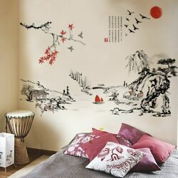 Wall Bedroom Background Living Sticker Tv Sofa Stickers Vase Decoration Decal $15.91