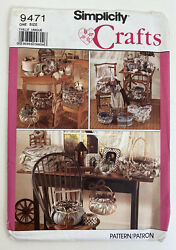Simplicity Crafts 9471 Covered Boxes and Baskets Uncut 1989 $4.00