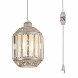 YLONG ZS Hanging Lamps Swag Lights Plug in Pendant Light 16.4 FT Cord Hanging... $74.48