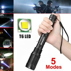990000Lumen Police Tactical LED High Powered 5 Zoom Focus Flashlight Torch Lamp $13.07