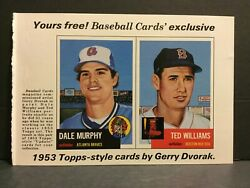 1984 BBC Baseball Cards Magazine 1953 #281 Ted Williams amp; #282 Dale Murphy 231A4 $9.99
