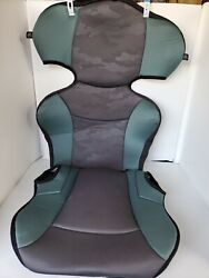 Evenflo Big Kid Sport Booster Car Seat Cover Fabric Padding Gray green . $14.00