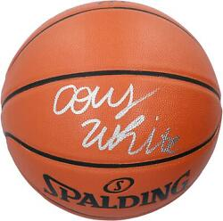 Coby White Chicago Bulls Autographed Spalding Indoor Outdoor Basketball $139.99