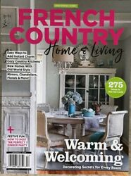 FRENCH COUNTRY HOME amp; LIVING DEC 2021 garden journal style cottage flea decor $8.50