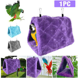Parrot Bird Hammock Hanging Cave Cage Plush Snuggle Happy Hut Tent Bed Bunk Toys $7.59