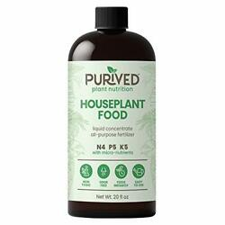 Purived Liquid Fertilizer for Indoor Plants 20oz Concentrate Makes 50 Gallon $34.60