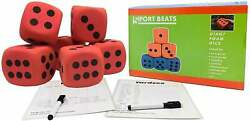 4#x27;#x27; Jumbo Foam Dice Set of 6 Yard Outdoor Games for Adults and Family Lawn Games $19.95