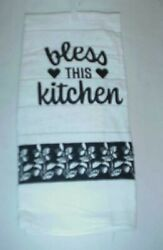 Lot of 4 BLESS THIS KITCHEN Kitchen Dish Towels 15quot; x 25quot; New $12.99