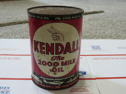 Vintage Oil can Kendall 2000 Mile Oil $50.00