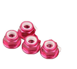 4pc 4mm Pink Aluminum Alloy Flanged M4 RC Wheel Nuts Traxxas Arrma Losi $4.99