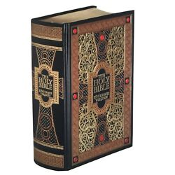❤️THE HOLY BIBLE King James Version Gustave Dore Illustrated Leather Bound NEW $28.88