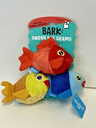 BARK Under The Seams Dog Toy The Groupers Squeaky Fish 🐠🐟 3 Pack BRAND NEW $10.99
