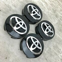 4 PCS BLACK FOR Toyota Camry Avalon 42603 06080 Wheel Center Hubcaps 62MM 2.5quot; $18.99