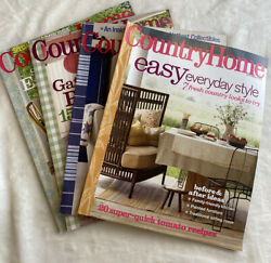 Country Home lot of 4 back issues 2008 $9.90