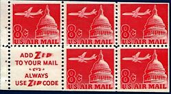 Scott# C64b Jet Airplane Over Capitol 1962 booklet with addzip Sloan $0.99