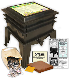Worm Factory Basic Black 3 Tray Worm Composter Black $116.71