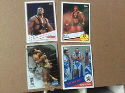 Big E Langston rookie card from 2013 WWE Topps RC With 3 other Big E cards $6.50
