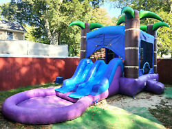 Enchanted Forest Commercial Grade Bounce House amp; Dual Slide w Pool amp; Blower $950.00