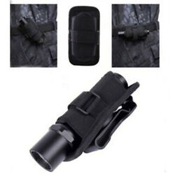 360 Degrees Rotatable Nylon Flashlight Holster Torch Case Pouch Cover Small IHTA C $7.62