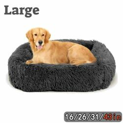 31in Dog Beds For large Medium Small Dogs Long Plush Pet Cat Calming Beds Mat $27.99