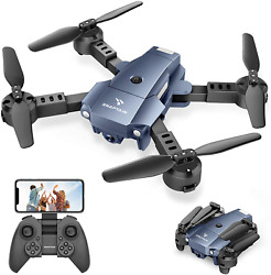 SNAPTAIN A10 Mini Foldable Drone with 720P HD Camera FPV WiFi RC Quadcopter with $50.96