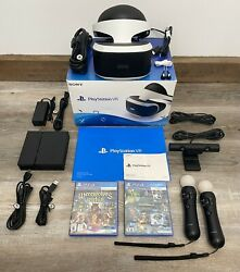 PS4 VR Bundle Headset CUH ZVR1 PlayStation 4 W Sealed Game amp; Demo Game $299.00