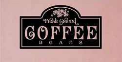 Coffee Kitchen Wall Stickers Vinyl Letters Decal Words $14.60
