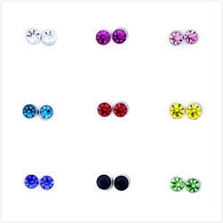 Classic magnetic magnet crystal stud earrings multiple colours