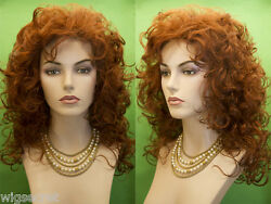 Medium Long Blonde Brunette Red Grey Curly Wigs $36.99