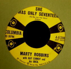 Marty Robbins Columbia 41208 She Was Only Seventeen