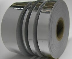 Silver Chrome Vinyl Tape Choose Your Size Adhesive Coated Mirror Plastic