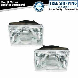 Headlights Headlamps Left & Right Pair Set for 93-98 Jeep Grand Cherokee $31.78
