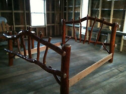Sassafras Rustic Log KING Bed Amish Made in USA