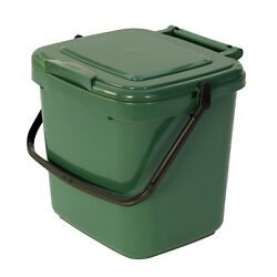 Green Kitchen Compost Caddy Food Waste Recycling 7 Litre GBP 8.99