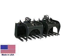 TINE GRAPPLE Industrial - for all Skid Steers - Logs Rocks Demolition  6.33 Ft
