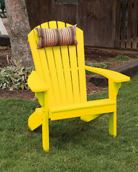 Poly Folding and Reclining Adirondack Chair *LEMON YELLOW COLOR* Made in USA