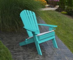 Poly Folding & Reclining Adirondack Chair *ARUBA BLUE COLOR* Manufactured Wood