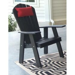 Poly Upright Adirondack Chair *OFFERED IN BLACK COLOR* Made in USA