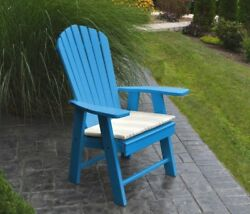 Poly Upright Adirondack Chair *OFFERED IN BLUE COLOR* Amish Made in USA